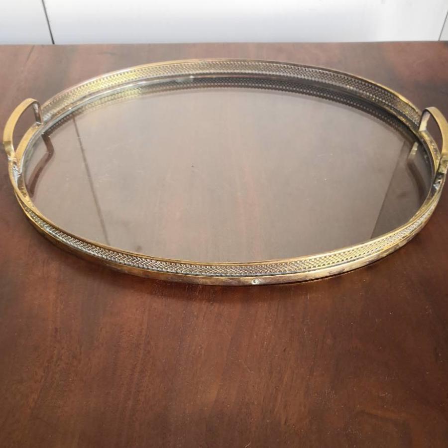 Gilt metal tray