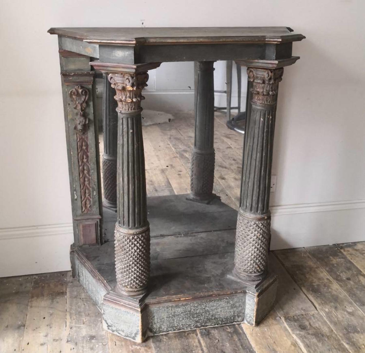 Nineteenth century painted console table