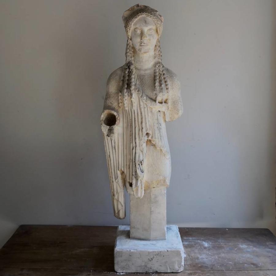 Antique plaster cast of Kore 674