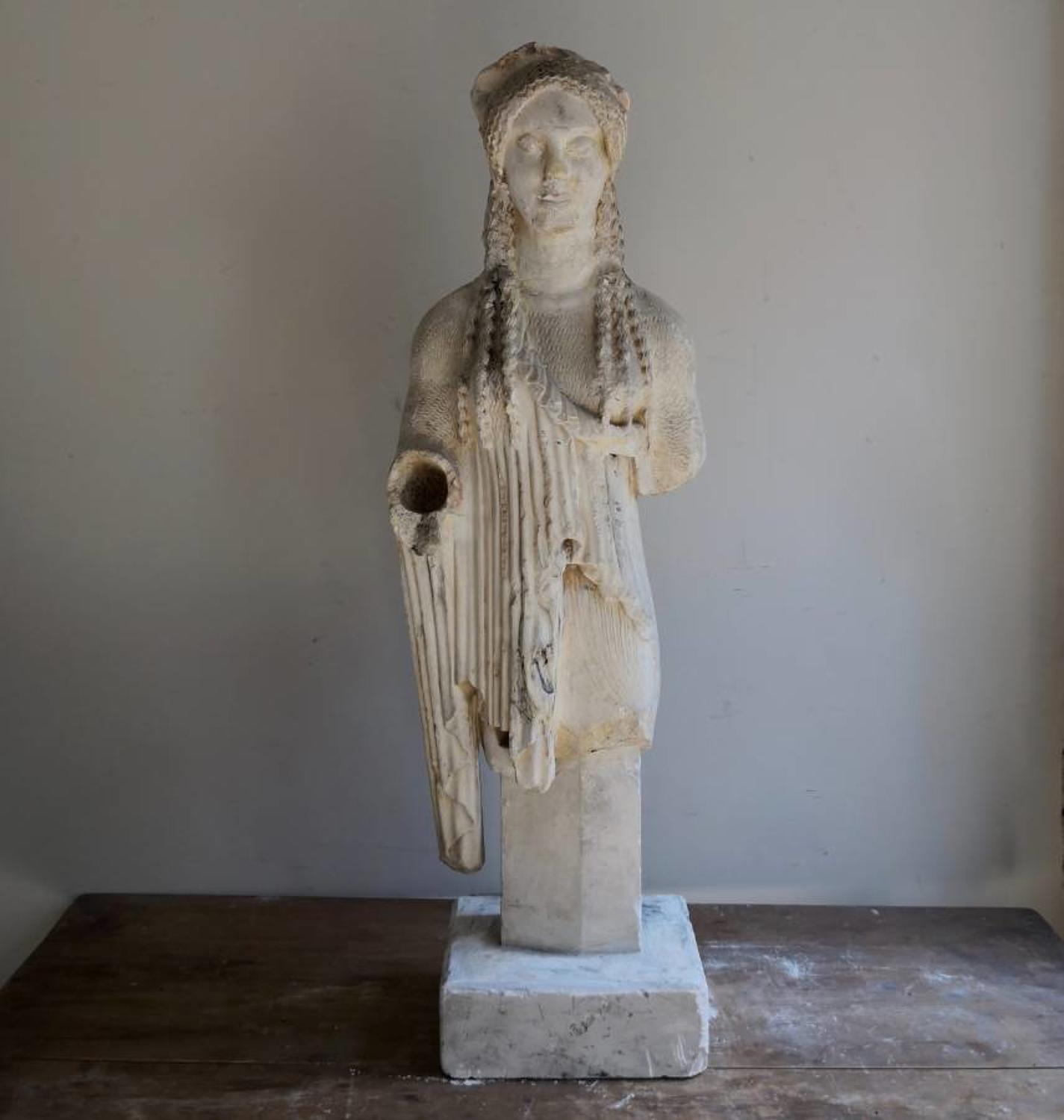 Antique plaster cast of Kore 674