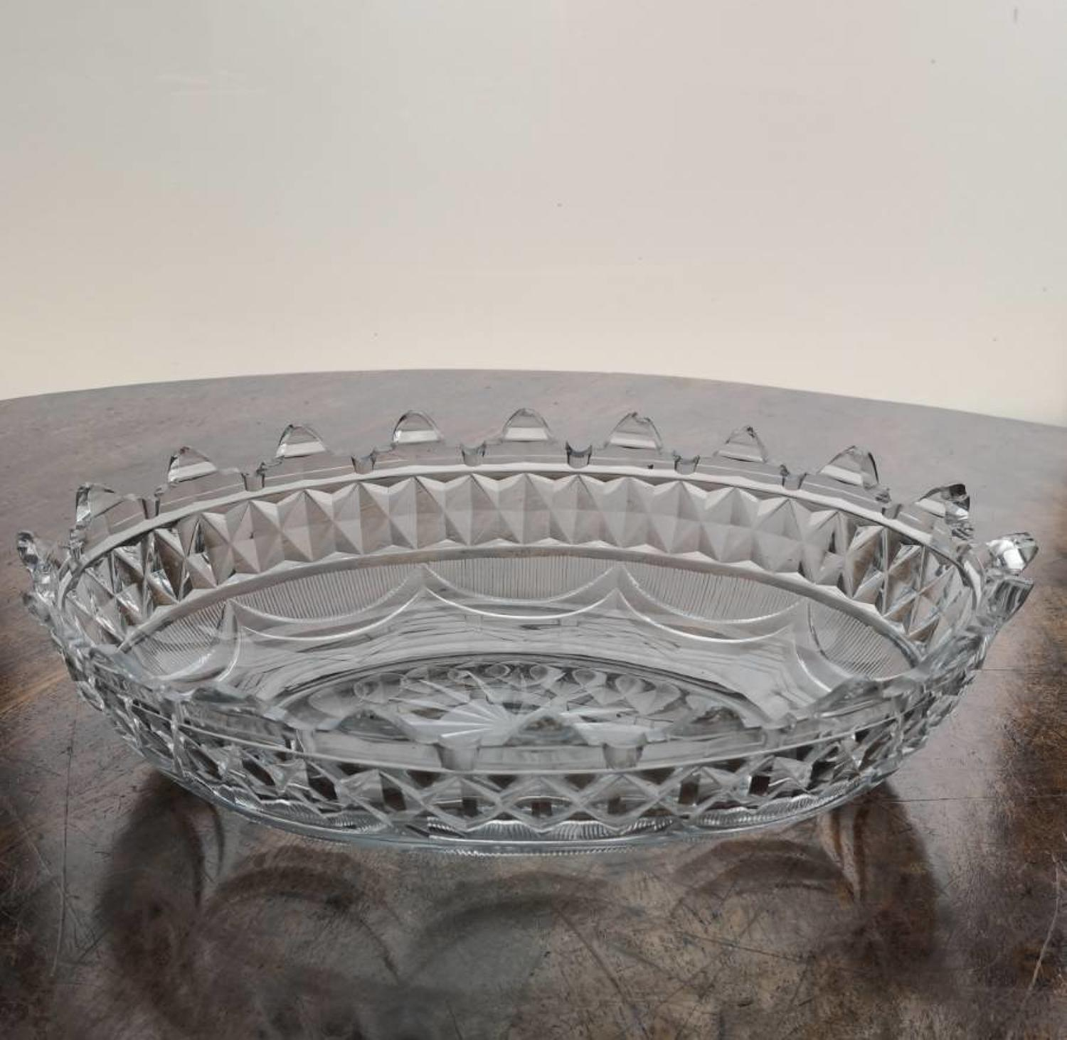 Irish, Regency glass centrepiece