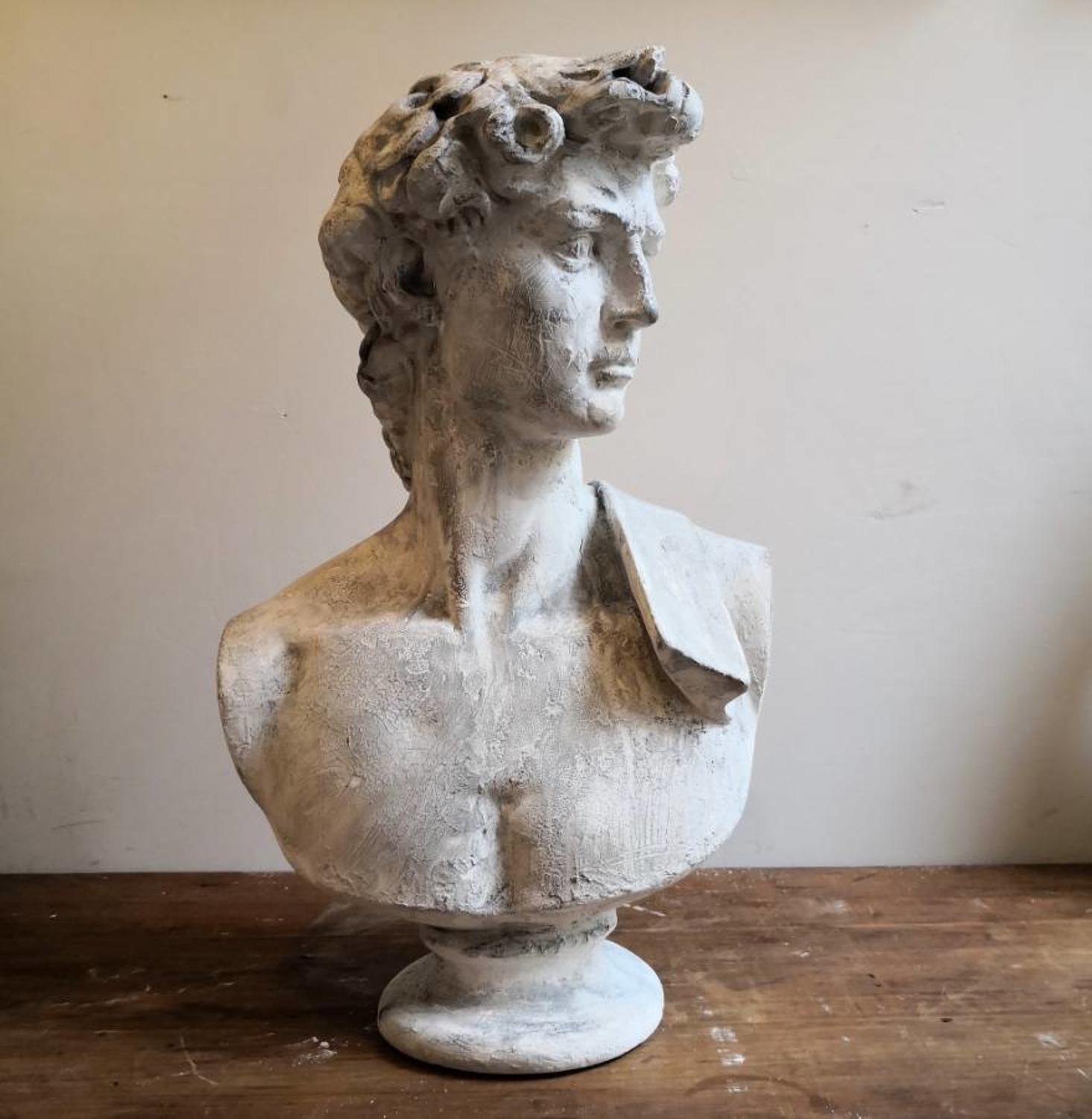 Plaster bust of David