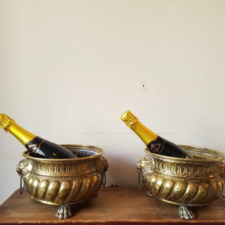 A pair of nineteenth century wine coolers