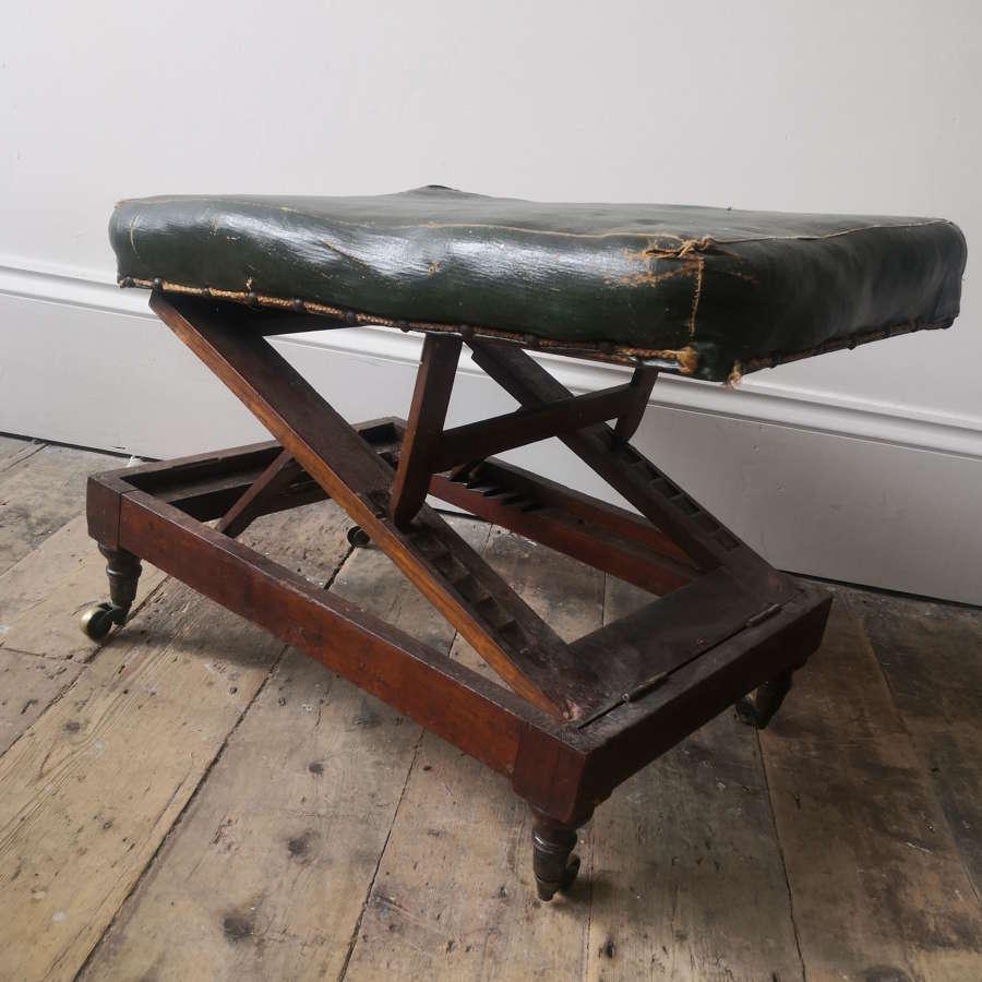 19th century adjustable foot stool