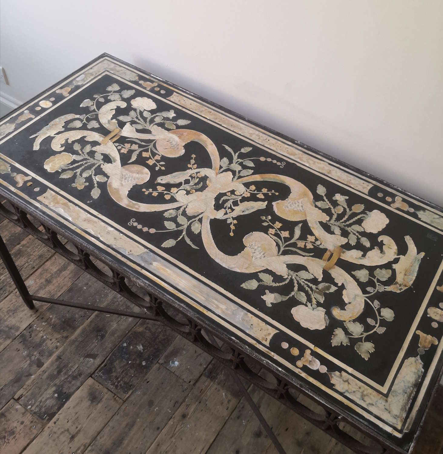 17th/18th century scagliola table