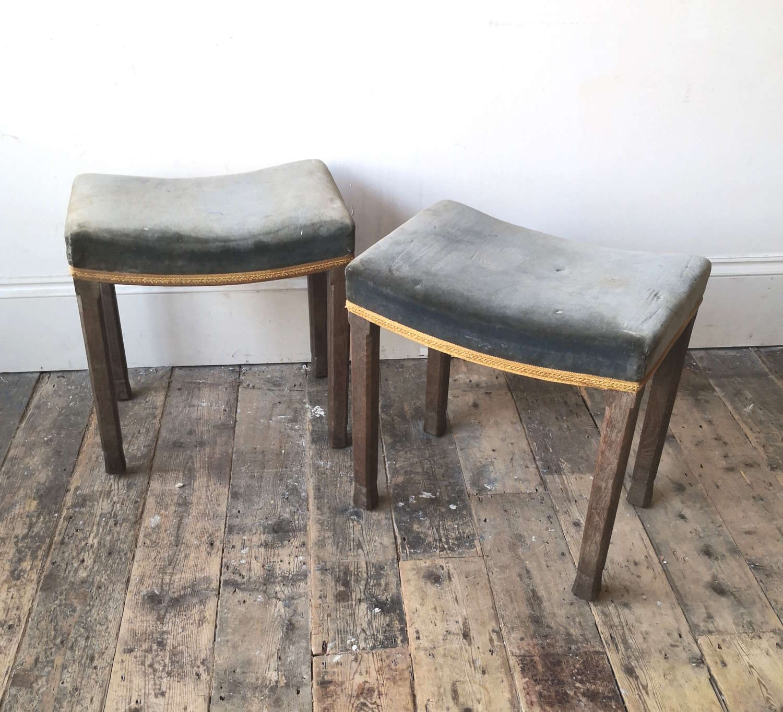 A pair of Elizabeth II coronation stools