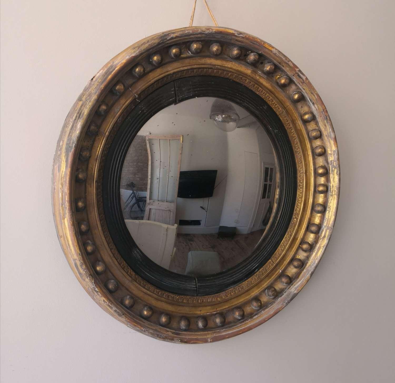 19th century convex mirror