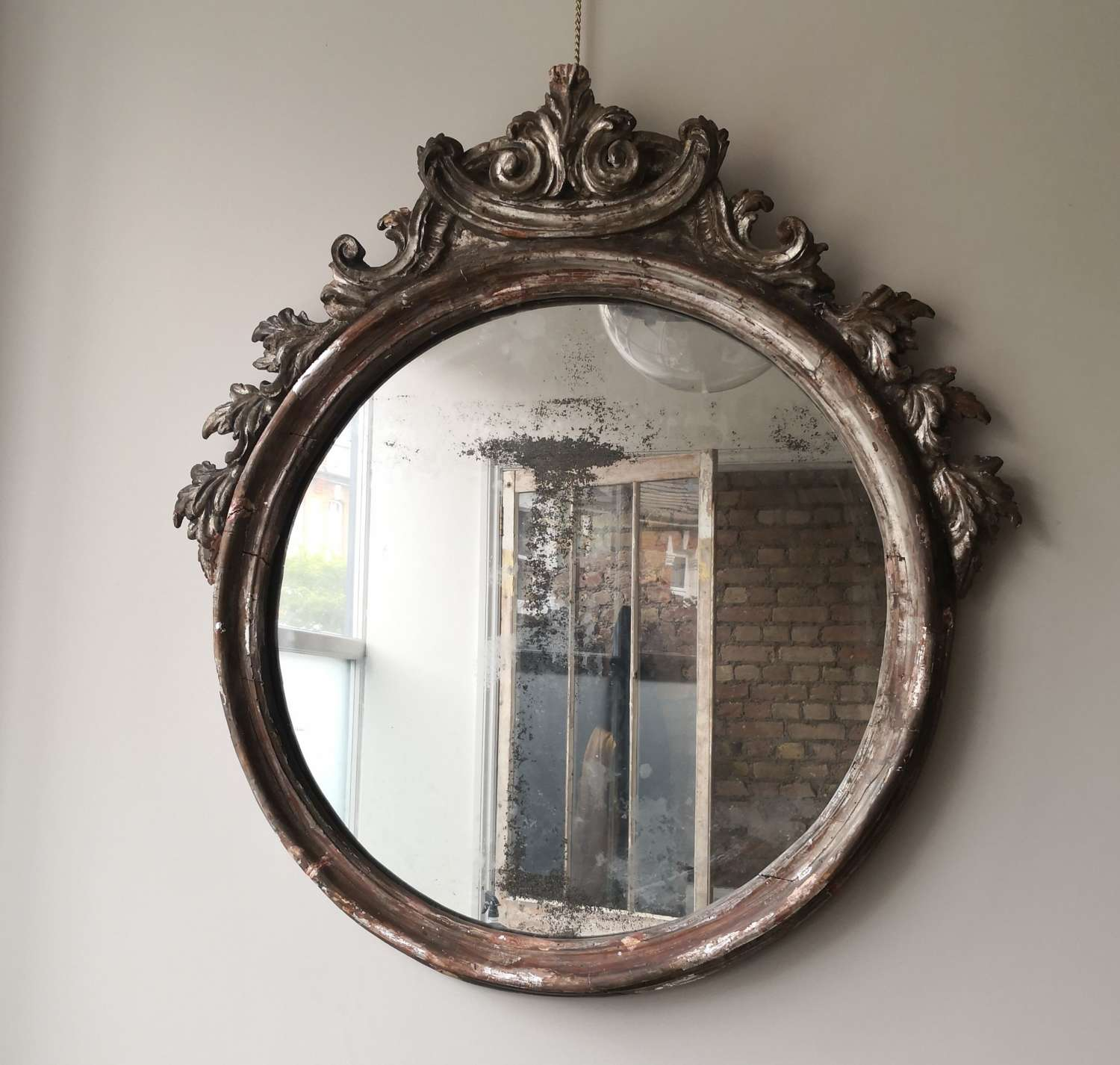 Very large 19th century Italian mirror