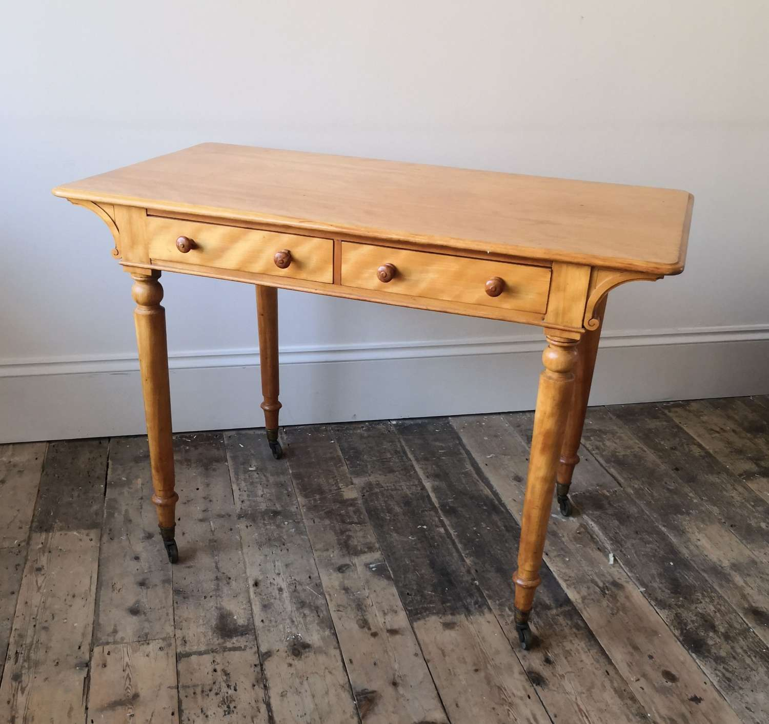 Satin birch Holland and sons centre table