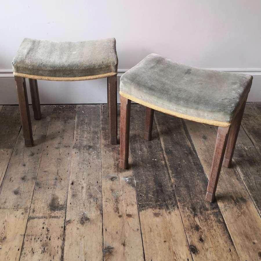 A pair of Coronation stools
