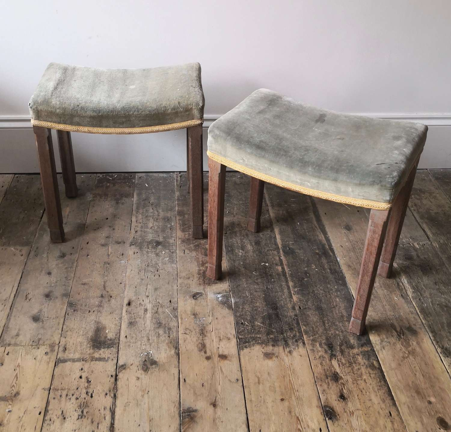 A pair of Coronation stools