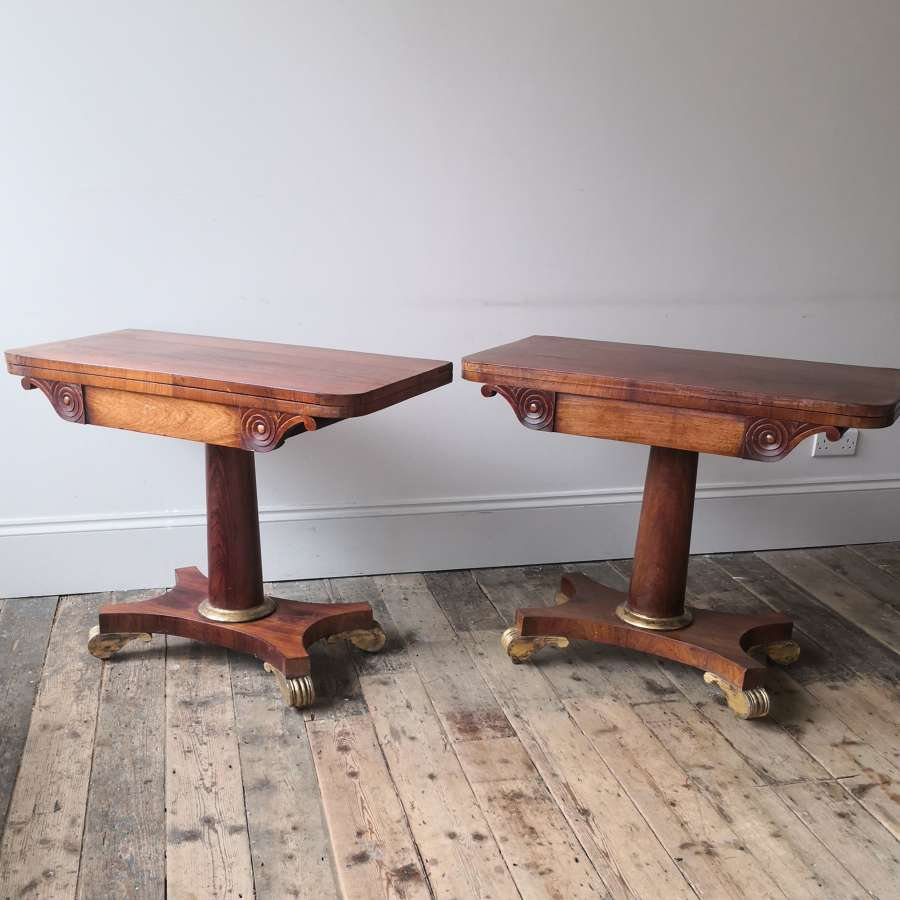 A pair of nineteenth century tables