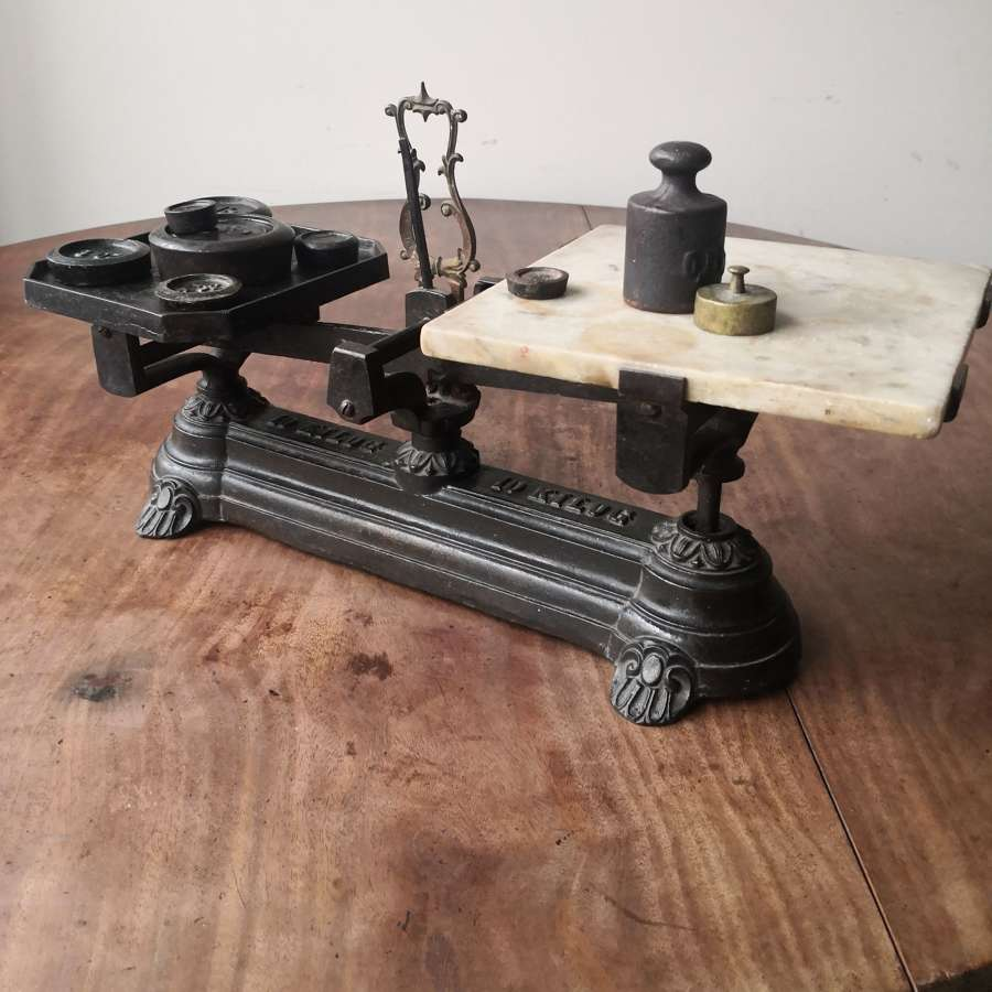 A set of 19th century kitchen scales
