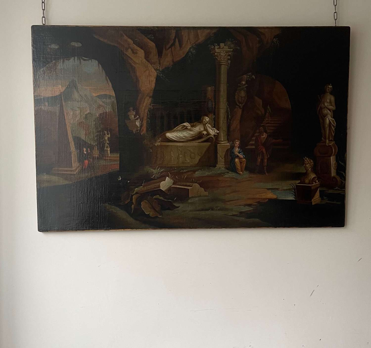 Large Classical oil on canvas