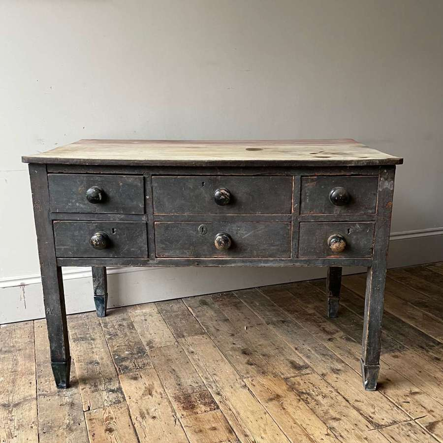 19th century painted preparation table