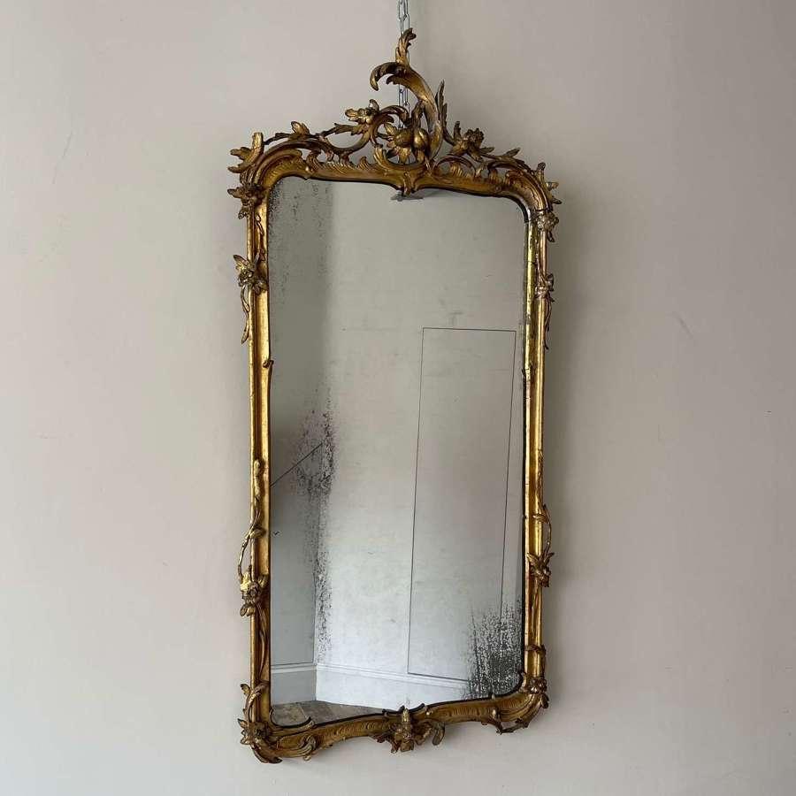 18th century Rococo pier mirror