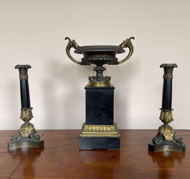 19th century bronze garniture