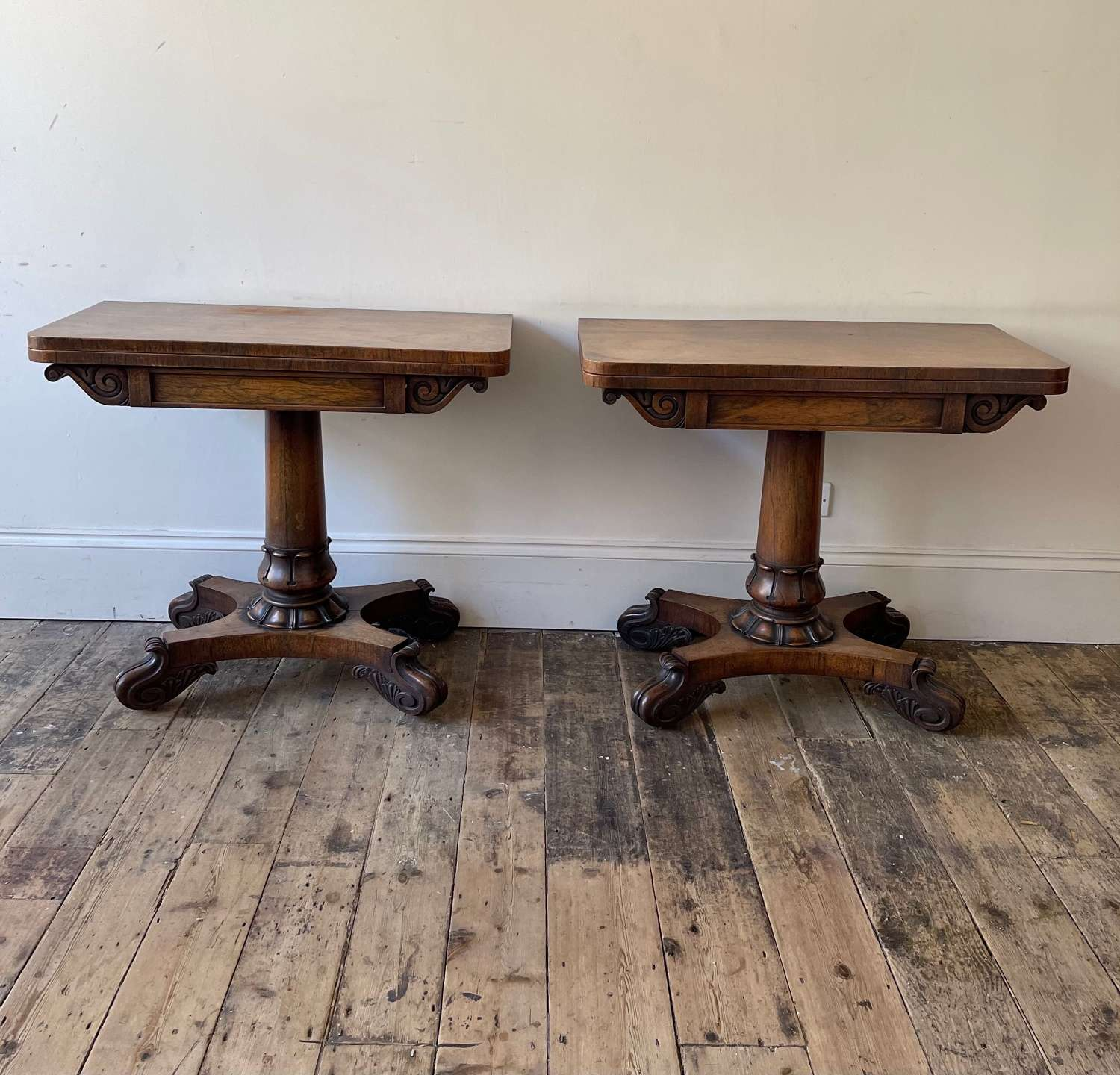 A pair of Willian IV tables