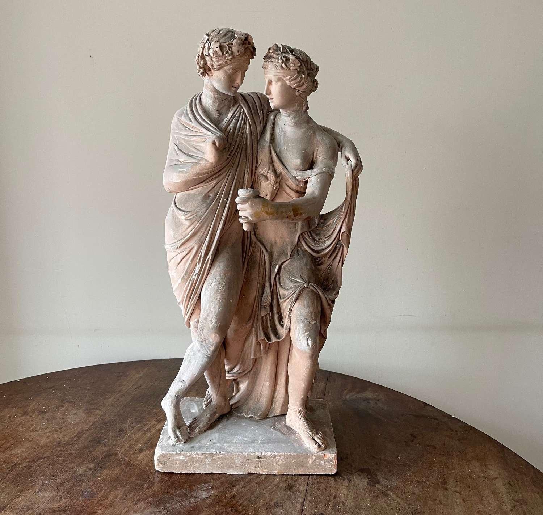 Plaster Bacchus and Ariadne