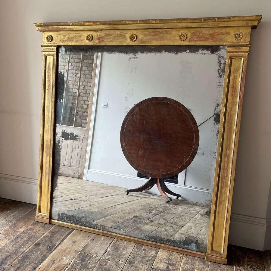 19th century Neo Grecian over mantle mirror