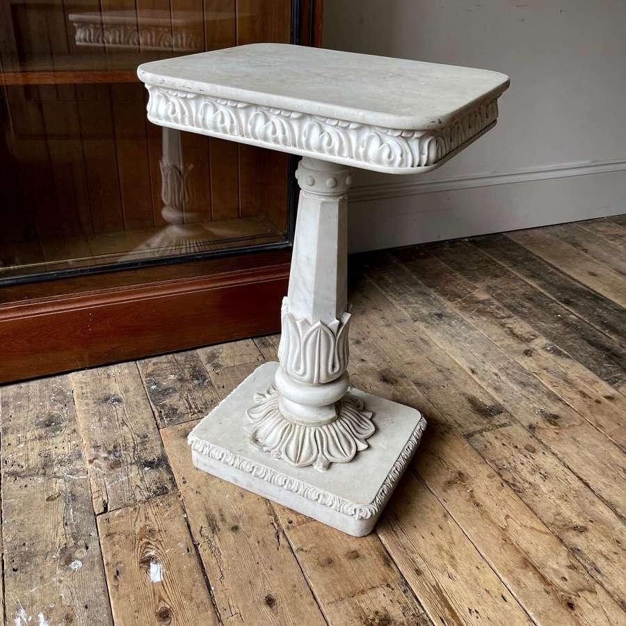 19th century white marble table