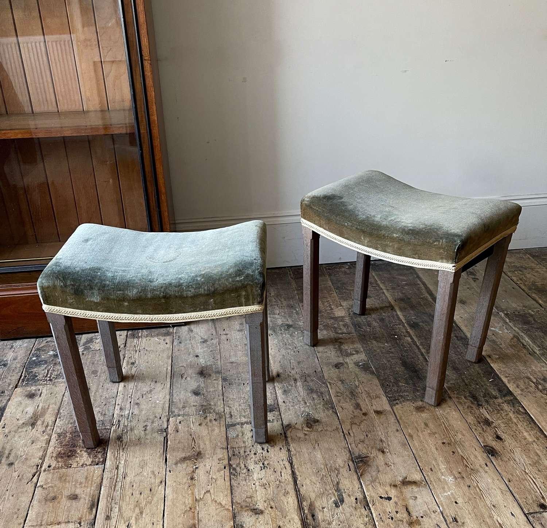 A pair of George VI coronation stools
