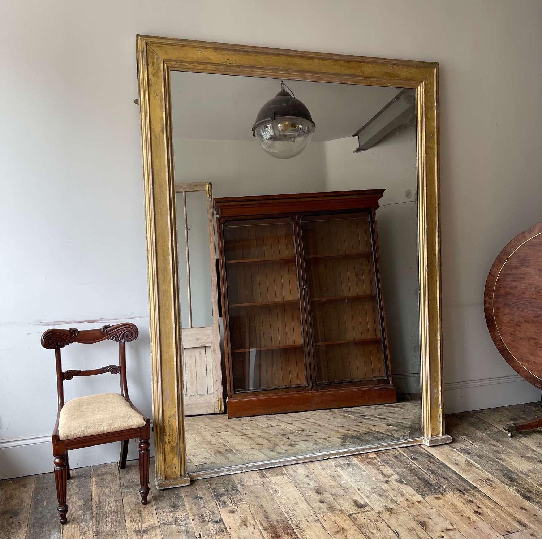 Monumental 19th century mirror