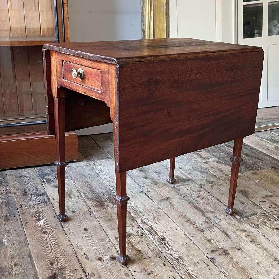 Unusual George III drop flap table.